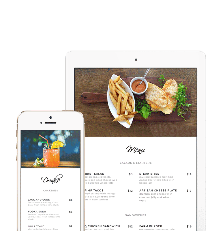 Website design tablet and phone mockup